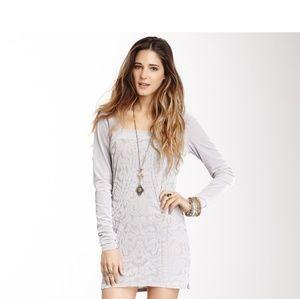 Free People Boogie Nights Gray Dress sz L